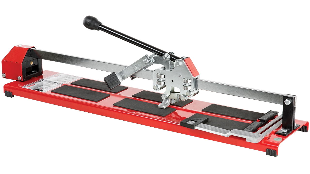 Roller-cut ceramic tile cutter with Laser